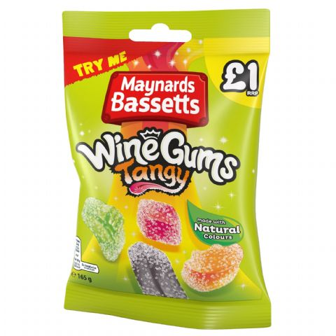 Wine Gums Tangy Sweets Maynards Bassetts 165g